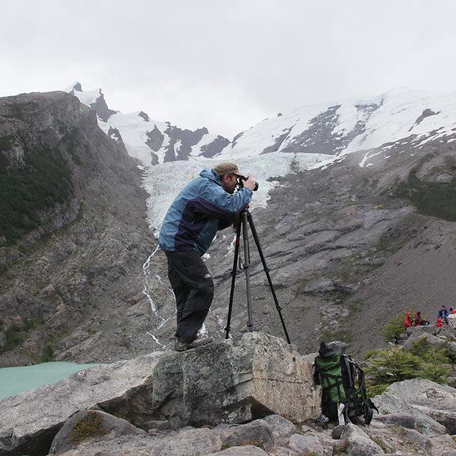 Shooting HDRI's at a Glacier in Patagonia.