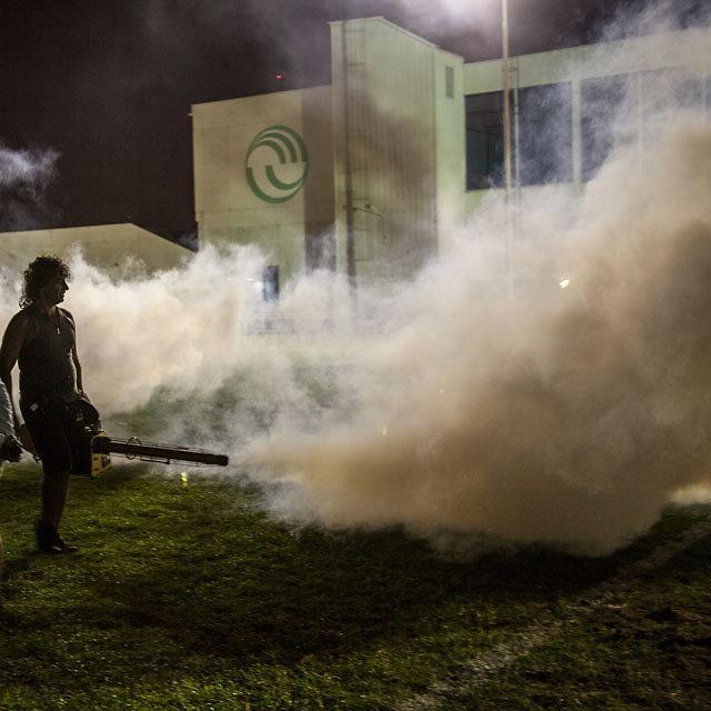 smoke machines on set